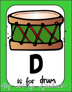 D is for drum pic