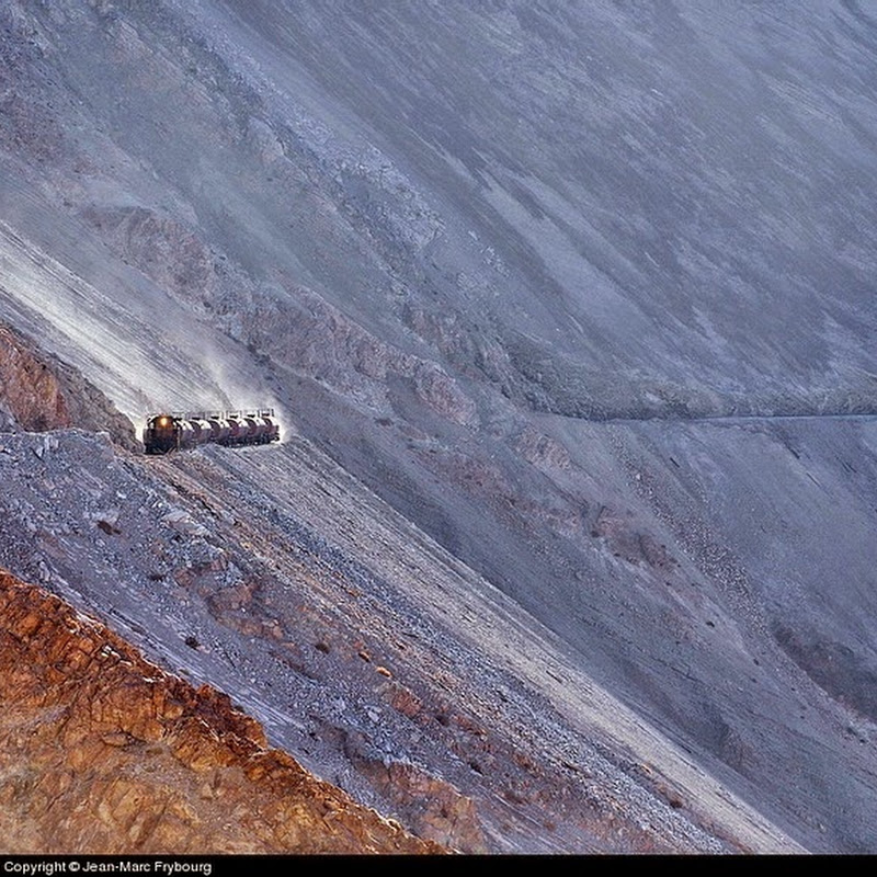 Spectacular Train Route to Copper Mines in the Andes