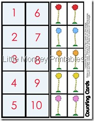 counting mat cards