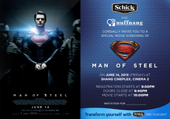 Man of Steel by Schick and Nuffnang