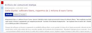 Bolzano: il software libero farà risparmiare 1 milione di euro l'anno
