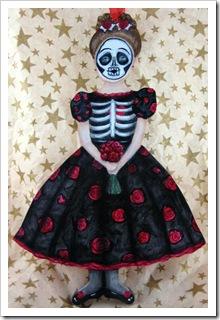 Skeleton Girl Ornament