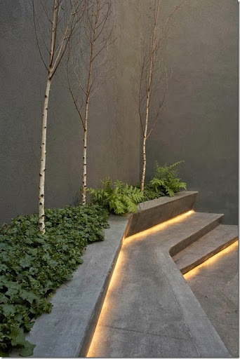 Outdoor Steps Designed By Dieguez Fridman Architects.