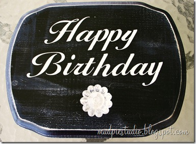 Happy Birthday Sign - Tutorial 9