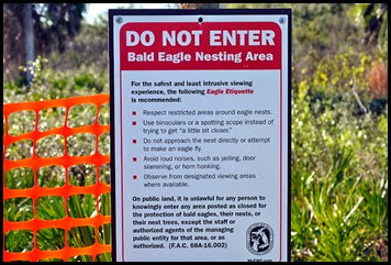 03e - Eagle Walk - Eagle Etiquette Sign