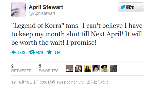 Twitter - Aprilstewart- -Legend of Korra- fans- I can't ...