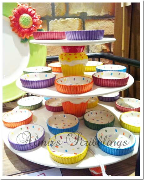 colourful ceramic cupcake holder
