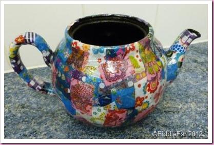 Decopatch flowerpot teapot