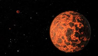 ilustração de exoplaneta menor que a Terra