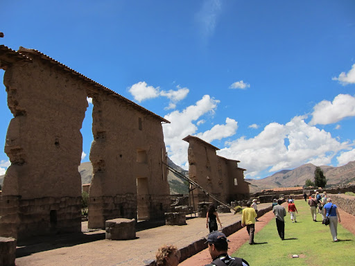 Remnants of an Inca temple at Raqchi
