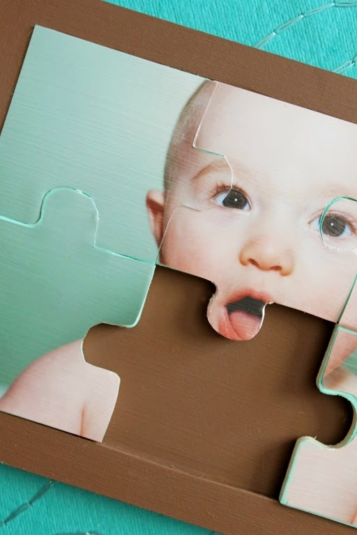 photo puzzle tutorial from GingerSnapCrafts.com #tutorial #decoart #photo