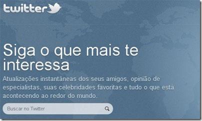 Crie um Twitter em português