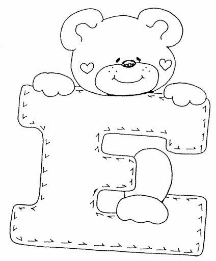 Imagenes de ositos con letras para dibujar - Imagui