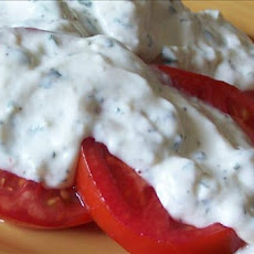 Tomatoes With Creamy Dressing
