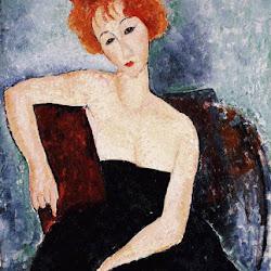 Modigliani, Redhead in Evening Dress 1918.jpg