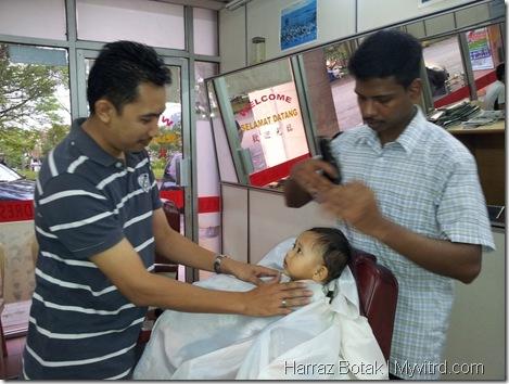 Aksi Harraz Gunting Rambut 5