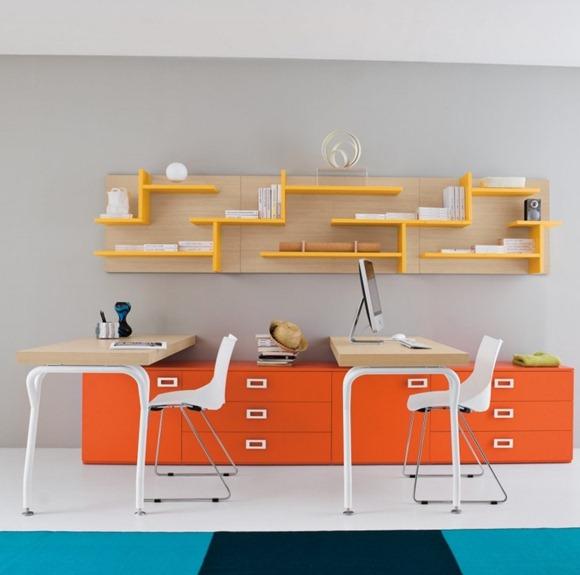 estudio de un brillante naranja amarillo
