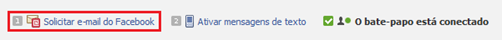 Solicitar e-mail do Facebook