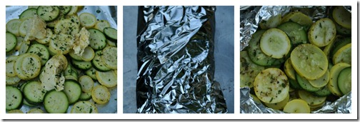 grilled squash wrapped in foil 1