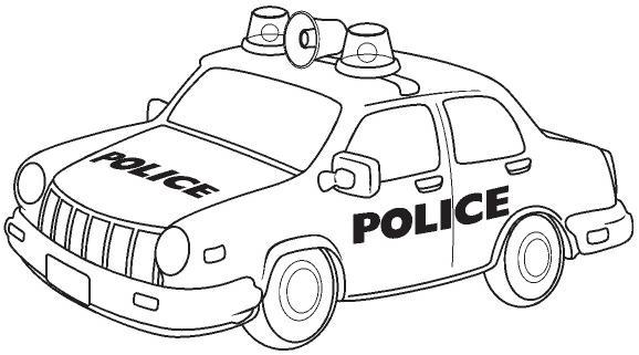 COLOREAR COCHES DE POLICIA