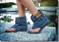 Denim Sandal Boots