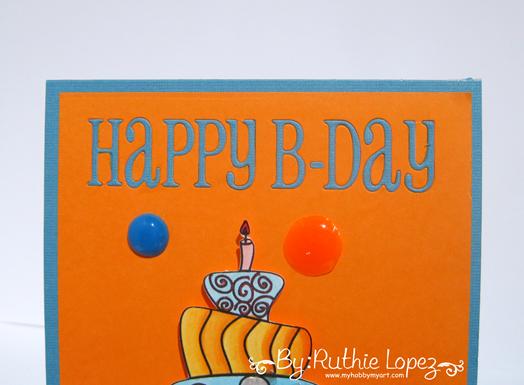 Garabattas - Birthday Ca - Happy Birthday Card - Ruthie Lopez - My hobby my art 3