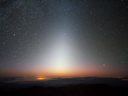 luz zodiacal sobre La Silla