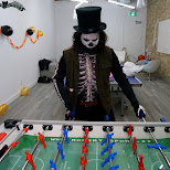 poyan playing fussball in Toronto, Ontario, Canada