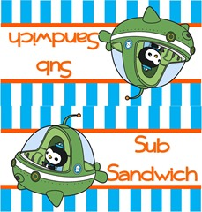 Sub Sandwich Label
