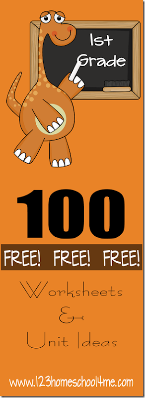 100 FREE 1st Grade Worksheets and Homeschool Units