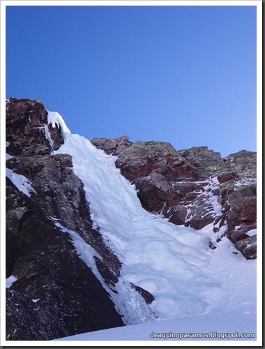 Cascada Os Diaples de Panti 180m MD- WI4  90º (Canal Roya, Pirineos) (Isra) 8506