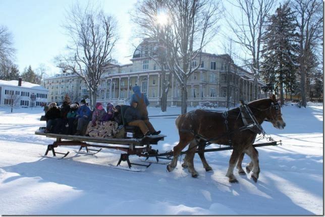 Athenaeum Hotel sleigh ride
