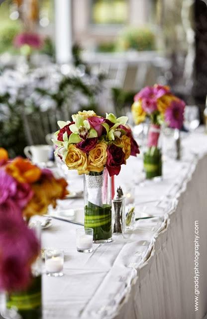 bouquets as centerpieces a-831 ashley fox designs