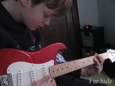 Noah practicing