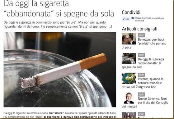 """Da oggi la sigaretta """"abbandonata"""" si spegne da sola - DaringToDo.com"""