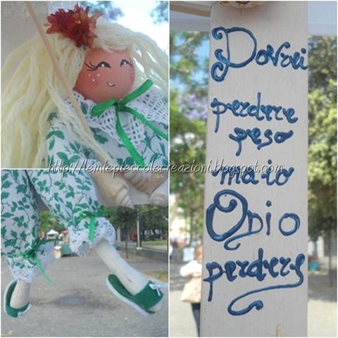 bambola cicciotta su cornice particolari