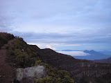First light looking west from the top of Gunung Gede to Gn Salak (Daniel Quinn, December 2011)