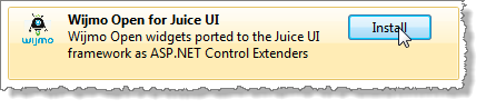 Get Wijmo Open for Juice UI from NuGet