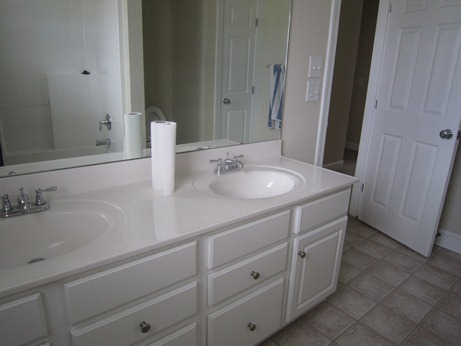 hall bath double sinks