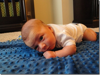 18.  Tummy time one month