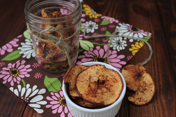 spiced baked apple chips recipe