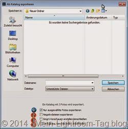 LR_Als Katalog exportieren