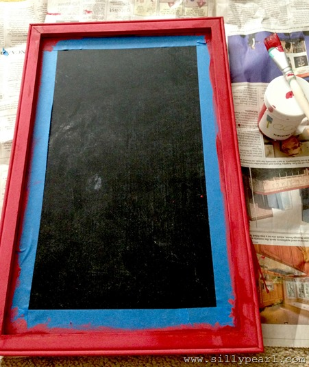 Chalkboard with a Ruler Ledge 1