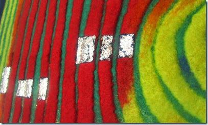 Hundertwasser Filz Detail