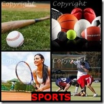 SPORTS- 4 Pics 1 Word Answers 3 Letters
