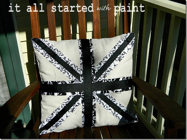 union_jack_pillow_black_and_white_and_front_porch