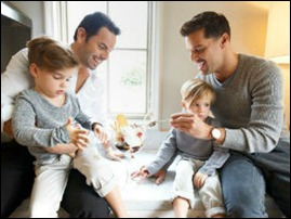 Ricky Martin, filhos e marido.