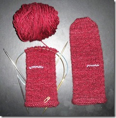Nubby Noro Mittens - Two