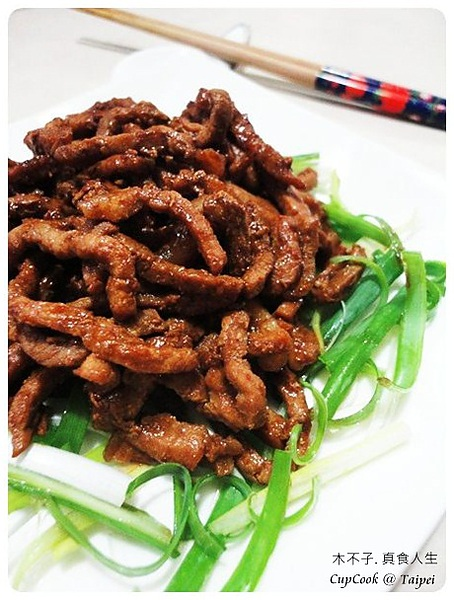京醬肉絲成品圖 sauted meat shreds with soy bean paste(4)