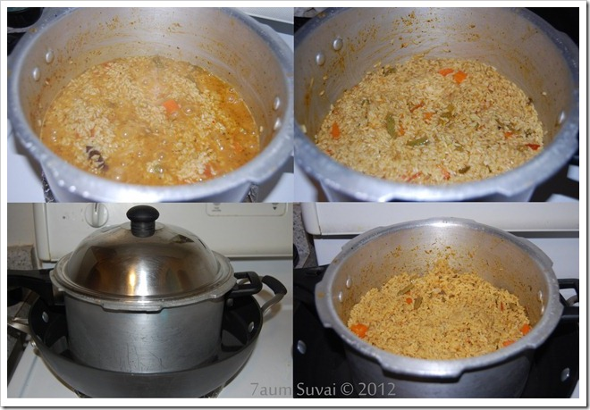 Vegetable dum biryani Process